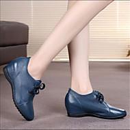 Dame-PU-Flat hæl-Komfort-Båtsko-Fritid-Hvit Svart Blå