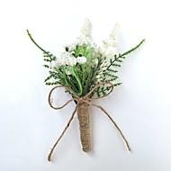 Bouquets de Noiva Forma-Livre Rosas Alfinetes de Lapela Casamento Festa / noite Cetim