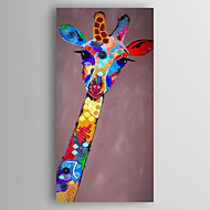 Handgemalte Tier Vertikal,Modern Ein Panel Leinwand Hang-Ölgemälde For Haus Dekoration