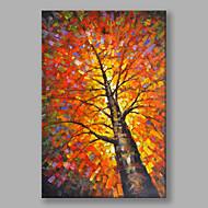 Peint à la main Paysages Abstraits Verticale,Moderne Un Panneau Toile Peinture à l'huile Hang-peint For Décoration d'intérieur