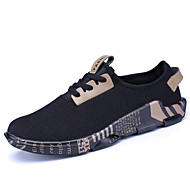 Men's Spring Summer Fall Comfort Tulle Outdoor Athletic Casual Flat Heel Lace-up Running Shoes