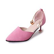 Dame-Fleece-Flat hæl-Ballerina-Flate sko-Friluft Kontor og arbeid Fritid-Svart Rosa