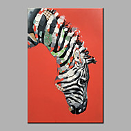 Hand-Painted Abstract A Zebra Oil painting Ready To Hang Modern One Panels Canvas Oil Painting For Home Decoration