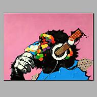Pintados à mão Animal Horizontal,Moderno 1 Painel Tela Pintura a Óleo For Decoração para casa