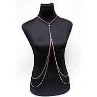 Dámské Tělové ozdoby Tělo Chain / Belly Chain příroda Módní Bohemia Style Křišťál Slitina Zlatá Šperky Pro Zvláštní příležitosti Ležérní
