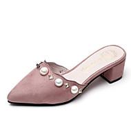 Women's Slippers & Flip-Flops Summer Slingback Fleece Outdoor Casual Flat Heel Pearl Walking