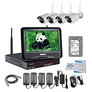 Strongshine® Wireless IP Camera with 960P Infrared Waterproof and NVR 10.1 Inch LCD 2TB Surveillance HDD Kits