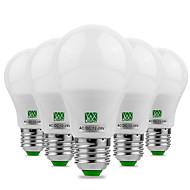 5W E26/E27 LED-bollampen 10 SMD 5730 400-500 lm Warm wit Koel wit Decoratief AC 12 V 5 stuks