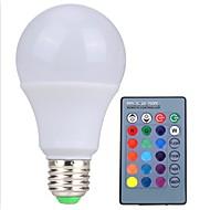 Rgb conduziu a lâmpada e27 5w conduziu o lampada leve do rgb conduziu o bulbo 85-265v smd5050 16 cores mudam com o controlador do