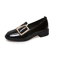 נשים-נעליים ללא שרוכים-דמוי עור-נעלי בובה (מרי ג'יין)-שחור ירוק-שטח יומיומי-עקב שטוח