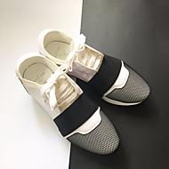 Dames Loafers & Slip-Ons Herfst Winter Comfortabel Microvezel Casual Sleehak Wit Zwart Rood