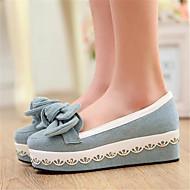 Dame-PU-Flat hæl-Komfort-Flate sko-Fritid-Mørkeblå Blå