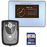 Mountainone 7 dvr cor touch screen vídeo porta telefone com pir sistema de intercomunicador com câmera de ir 8g sd cartão