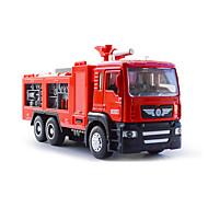 רכב מכבי אש רכבי משיכה אחורה צעצועים רכב 01:50 מתכת פלסטיק כסוף צעצוע בניה ודגם