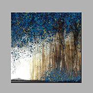 Hand-Painted Abstract Blue Forest Oil painting Ready To Hang Modern One Panels Canvas Oil Painting For Home Decoration