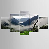 Giclee Print Maisema Moderni Perinteinen,5 paneeli Kanvas Mikä tahansa muoto Tulosta Art Wall Decor For Kodinsisustus