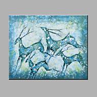 Håndmalte Abstrakt Dyr Horisontal,Moderne Et Panel Lerret Hang malte oljemaleri For Hjem Dekor