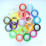3d εκτύπωση προμηθεύει υλικά PLA 1,75 χιλιοστά 5 μέτρα 20 χρώματα συνδυασμό κοστούμι