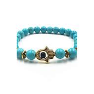 Homme Femme Bracelets de rive Turquoise Thérapie Magnétique Mauvais Oeil Blanc Noir Bleu Rouge foncé Bijoux 1pc