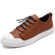 Αντρικό-Αθλητικά Παπούτσια-Ύπαιθρος Καθημερινό Αθλητικά-Επίπεδο Τακούνι-Ανατομικό-Δερματίνη-Μαύρο Γκρίζο Σκούρο καφέ