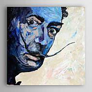 Pintados à mão Pessoas Quadrangular,Moderno 1 Painel Tela Pintura a Óleo For Decoração para casa
