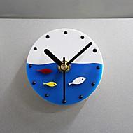 poissons d'horloge murale cuisine réfrigérateur horloge aimant en plastique conception plastique magnets pour réfrigérateur poisson