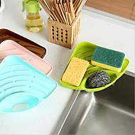 Évier de cuisine multi-fonctionnel rack éponge goutte tasse brosse diverse recevez l'étagère en plastique couleur aléatoire
