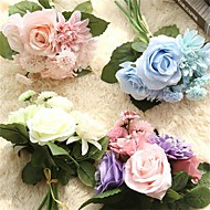 8 8 ענף Others ורדים אדמוניות חינניות פרחים לשולחן פרחים מלאכותיים 9.5*9.5  5*5
