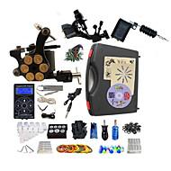 完全なタトゥーキット 2 xライニングとシェーディング用ロータリー墨機械 ライニングとシェーディングのための1つのx合金の入れ墨機械 3 タトゥーマシン LED電源 インクは別々に出荷します