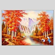 Håndmalte Landskap Horisontal Panorama,Moderne Klassisk Et Panel Lerret Hang malte oljemaleri For Hjem Dekor