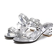 Damen-Sandalen-Outddor Büro Lässig-Kunststoff-Blockabsatz-Club-Schuhe-