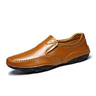 -Для мужчин-Для офиса Повседневный-Наппа Leather-На плоской подошве-Удобная обувь-Мокасины и Свитер