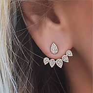 Stud Earrings Rhinestone Euramerican Fashion Alloy Teardrop Jewelry For Party Daily 1 Pair
