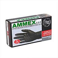 100pcs Tattoo Gloves Disposable Soft Black Medical Nitrile Sterile Tattoo Gloves Tattoo Accessories 50Pairs L Size