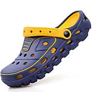 Homme-Décontracté--Talon Bas-Semelles Légères trou Chaussures-Sabots & Mules-Gomme