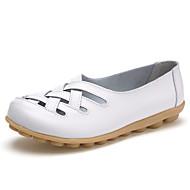 -Для женщин-Для офиса Для праздника Повседневный-Дерматин-На низком каблуке-Удобная обувь Туфли Мери-Джейн Пинетки Светодиодные подошвы-