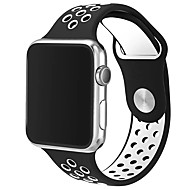 Groupe de montre de rechange pour Apple Watch Series 1&2 doux tpu 42mm sport double couleur