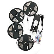 Zdm 20m (4 * 5m) impermeável 120w 600leds 5050 rgb tira luz flexível 44key controle remoto kit 10a fonte de alimentação ac110-240v