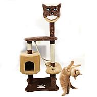 猫用おもちゃ ペット用おもちゃ インタラクティブ チューブ/トンネル スクラッチマット 耐久 ウッド