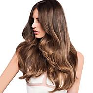 Cabelo Humano Cabelo Indiano Cabelo realçado Ondas Médias Extensões de cabelo 1 Peça Morango loura / Medium Auburn