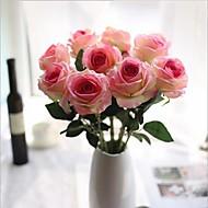 10 Větev PU Realitní touch Růže Květina na stůl Umělé květiny