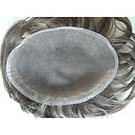 8x10 indian remy hår stykke swiss snøre Tupeer for menn
