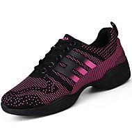 Kadın Atletik Ayakkabılar Rahat PU Bahar Sonbahar Açık Hava Düz Topuk Beyaz Fuşya Düz