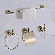 Fürdőszoba tartozék szett / ZöldSárgaréz /Antikolt