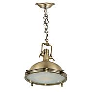 Luzes Pingente ,  Contemprâneo Tradicional/Clássico Rústico/Campestre Rústico Bronze Característica for Designers MetalQuarto Sala de