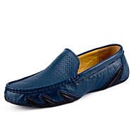 Masculino Mocassins e Slip-Ons Conforto Sapatos de mergulho Couro Pele Primavera Verão Atlético Casual Conforto Sapatos de mergulho