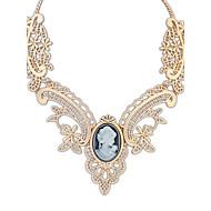 Euramerican Vintage Gold Palace Choker Euramerican Pendant Sweater Chain Necklace Women Office Lady Jewelry