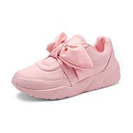 Damen Sneaker Komfort PU Frühling Herbst Normal Komfort Schnürsenkel Schwarz Braun Grün Rosa Unter 2,5 cm
