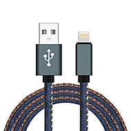 Lightning USB 2.0 Tressé Haut débit Câble Pour iPhone iPad MacBook MacBook Air MacBook Pro cm Nylon Aluminium