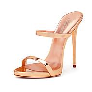 Femme-Mariage Bureau & Travail Habillé Soirée & Evénement--Talon Aiguille-A Bride Arrière club de Chaussures-Sandales-Polyuréthane